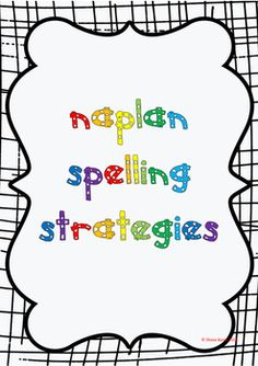 how to teach naplan spelling