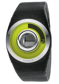 Fossil Philippe Starck Black-Green O-Ring Watch Unusual Watches, Amazing Watches, Beautiful Watches, Cool Watches, Men's Watches, Philippe Starck, Fossil Watches For Men, Hand Watch, Digital Watch