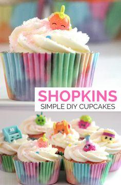 Easy DIY Shopkins Cupcakes