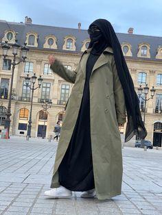 (1) NEW ! MAXI TRENCH PARIS Khaki – MADINA PARIS