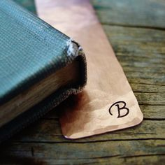 Would be so sweet tucked into a favorite book or journal! Initial Bookmark, Fancy Font, Copper Bookmark, Metal Bookmark, Personalized Bookmark, Women's Copper Gift, Reader Gift, Unique Bridesmaids Gifts, Librarian Gift, Teacher Gift, Teacher Appreciation Gift, Teacher Thank You Gift, Bookworm, Book Nerd, Teenage Girl Gift, Graduation Gift, Bible Marker, Journal Marker, Gift for Her, Hand Stamped by Pearlie Girl