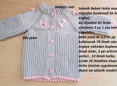 Selanik Bebek Hırka modeli #bebekörgüleri #bebekyelekleri #örgü #yelek #yelekmodelleri