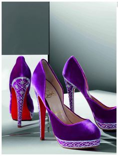 christian louboutin oooh purple!