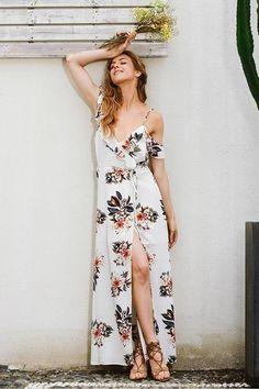 Vestido Longo Cache Coeur Floral - Compre Online