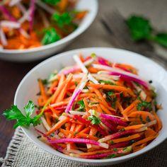 Ginger Carrot Radish Salad, healthyseasonalrecipes.com