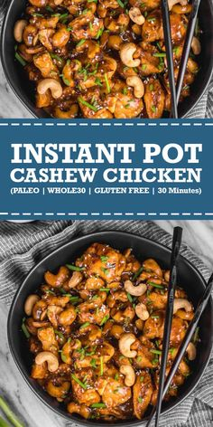 This instant pot cashew chicken tastes like the familiar Chinese takeout. - Chicken + Meat RecipesThis instant pot cashew chicken tastes like the familiar Chinese takeout we all love, but in a better-for-you, Paleo, gluten Paleo Snack, Paleo Menu, Paleo Breakfast, Paleo Food, Breakfast Dessert, Paleo Bread, Paleo Dessert, Diet Menu, Healthy Diet Recipes