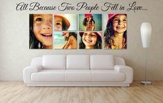 Beautiful Father's Day gift idea, canvas portrait collage of your son or daughter. Don't miss your chance to win a free custom canvas, giveaway ends tomorrow: http://blog.printfirm.com/fathers-day-2013-custom-canvas-print-giveaway-printfirm-com/