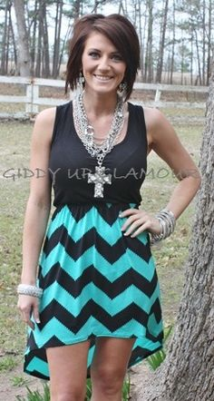 Giddy Up Glamour  New Girls On The Block Jade and Black Dress  $32.95