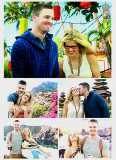 Oliver and Felicity's travels Arrow Cast, Arrow Tv, Supergirl Dc, Supergirl And Flash, Oliver Queen Felicity Smoak, Stephen Amell Arrow, The Flash Grant Gustin, Lance Black, Dc Tv Shows