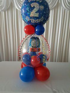 Thomas the tank filled birthday balloon FB: filled balloons burslem Thomas Birthday, 4th Birthday, Balloon Ideas, Balloon Decorations, Stuffed Balloons, Balloon Bouquet Delivery, Custom Balloons, Thomas The Tank, Party Ideas