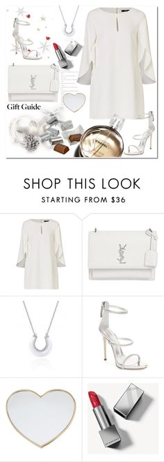 """""""Holiday Gift Guide"""" by ilona-828 ❤ liked on Polyvore featuring Yves Saint Laurent, Hershey's, Giuseppe Zanotti, Chanel, Gucci and Burberry"""