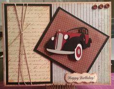 Masculine birthday card Cricut Art Deco