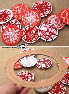 Красиви орнаменти в бяло и червено