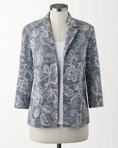 Floral overlay jacket