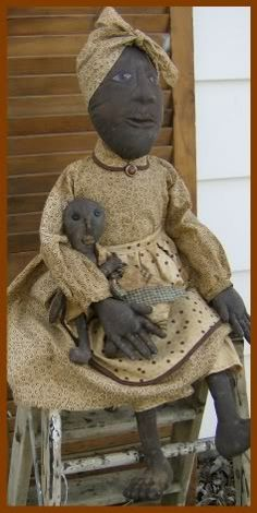 Art Doll by Terri Walker-Arden of Prim Creek.   I would have given this to fanny for xmas