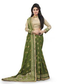 #Mehendi #Green #Silk #Fancy #Pallu #Designer #Sari #nikvik  #usa #designer #australia #canada #freeshipping #fashion #dress #sarees #sale