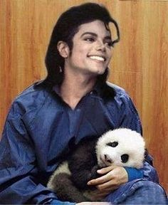Michael with a Panda! Cuteness Level just exploded! I love Michael and I love Pandas...Combine the two and WHOA!!!!