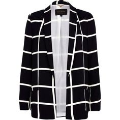 Black and white check relaxed jacket - blazers - coats / jackets - women