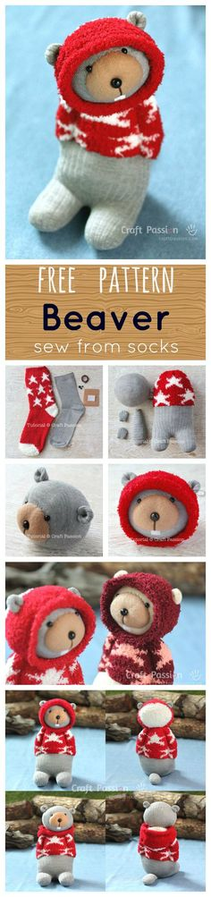Sock Beaver Plushie Free Sewing Pattern 2019 Free pattern Beaver sewed from socks The post Sock Beaver Plushie Free Sewing Pattern 2019 appeared first on Socks Diy. Sewing Patterns Free, Free Sewing, Doll Patterns, Free Pattern, Bear Patterns, Sewing Stuffed Animals, Stuffed Toys Patterns, Sewing Toys, Sewing Crafts
