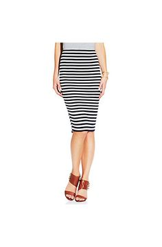 Marina Stripe Midi Tube Skirt
