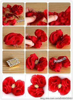 cute red hair bow tutorial