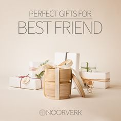 THE PERFECT GIFTS FOR THE BEST FRIEND  We have carefully selected a collection of unique items that are perfect gift ideas for one of the most important people in your life - your best friend. All items are handmade in Scandinavia by upcoming designers, artists, craftsmen. Visit the collection of 18 handpicked items