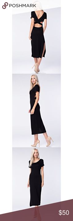 ✨Sexy Black Velvet Cocktail Dress W/ Side split ✨ 🌸🌸COMING SOON🌸🌸  SIMPLY BEAUTIFUL  ‼️Date Night Special! TTS  95% Rayon 5% Spandex  🎀LIKE THIS LISTING TO GET AN UPDATE WHEN SHIPMENT COMES IN🎀  ‼️Fast Seller  ....REASONABLE OFFERS ONLY....  No Low Ballers Dresses Maxi