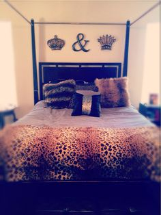 King and queen bedroom decor over our bed!  Now to add paint but I love it!
