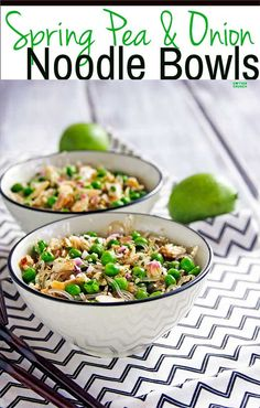 Spring Pea and Onion Noodle Bowls {Gluten Free} and ready in 30 minutes or less! Plus How to pick the Perfect Pod