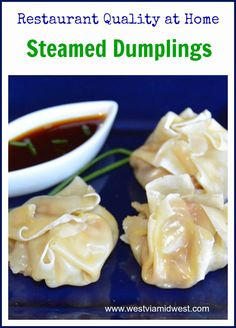 Steamed Sew Mai Dumplings just like you get at a restaurant, but better. They are so easy you will wonder why you haven't made them long before now. Served with a soy Sriracha based dipping sauce and you have a delicious appetizer. Pork Recipes, Lunch Recipes, Asian Recipes, Ethnic Recipes, Chinese Recipes, Noodle Recipes, Steamed Dumplings, Chinese Dumplings, Appetizers