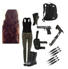 """Zombie Apocalypse Outfit #4"" by ninab27 ❤ liked on Polyvore featuring CARGO, Sam Edelman and The North Face"