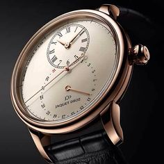 The Jaquet Droz Grande Seconde Deadbeat watch is the latest mainstream high-end luxury watch to feature the deadbeat seconds complication. Fine Watches, Cool Watches, Watches For Men, Men's Watches, Dream Watches, Swatch, Monochrome Watches, Deadbeat, Latest Watches