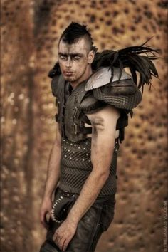 good basic costume. old sporting equipment makes for great armor. especially combined with effective make-up.