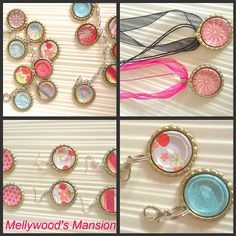 Bottle Cap crafts easy for kids and so pretty necklaces - would this work for nail polish jewelry?