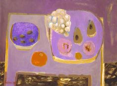 Mary Fedden was a Britishartist who taught painting at the Royal College of Art – David Hockney was actually one of her pupils. i feel like you can see her influence on him in her painting style…