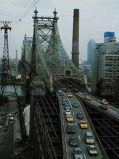 NYC. Queensboro bridge looking east