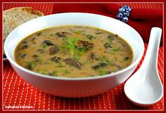 "Kahakai Kitchen: Hungarian Mushroom Soup From ""The Vegan Slow Cooker"" for Souper (Soup, Salad & Sammie) Sundays Tasty Vegetarian Recipes, Veggie Recipes, Soup Recipes, Whole Food Recipes, Veggie Meals, Mushroom Recipes, Vegan Slow Cooker, Slow Cooker Recipes, Crockpot Recipes"