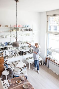 One glance inside Annemieke Boot's Amsterdam ceramics studio and you will see that her work is deeply inspired by Scandinavian simplicity, her designs derived from pure, simple forms. With a keen eye for detail, Annemieke admits that she once was intent to make each and every piece exactly t