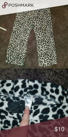 Leopard Old Navy Fleece Pajama Pants - worn 1x Worn1x, basically brand new. Very soft and warm. Old Navy Intimates & Sleepwear Pajamas