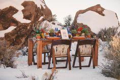 Aztec themed tablescape | Tyler Rye Photography | see more on: http://burnettsboards.com/2014/06/desert-wedding-inspiration-shoot-snow/ #wedding #reception