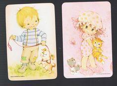 Playing Swap Cards 2 Vint 1970'S B Backs Cute Kiddies Kitten Puppy B2A | eBay