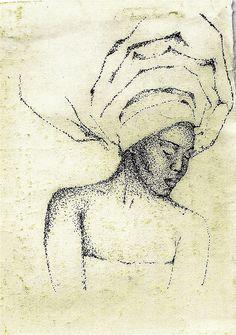 black art pontilhismo nanquin