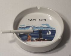 #collectibles antique vintage ashtray cape Cod ceramic round graphic collectible antique vintage NEW withing our EBAY store at  http://stores.ebay.com/esquirestore
