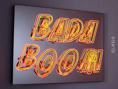 'Bada Boom' Neon, 2009 by artist Liu Dao - Photography by Binbin Wang