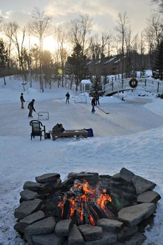 Pond Hockey in the White Mountains of New Hampshire at Nordic Village Resort.