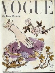 Vintage Vogue magazine covers - mylusciouslife.com - Vintage Vogue UK December 1947.jpg