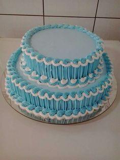 Cake Piping, Buttercream Cake, Easy Cake Decorating, Cake Decorating Techniques, Wedding Cake Pearls, Mom Cake, Engagement Cakes, Just Cakes, Round Cakes