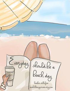 Beach Art Summer Art Summer Everyday by RoseHillDesignStudio