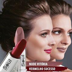 Eudora acredita no batom como forma de expressão. Expresse-se com as novas cores de Kiss Me Mate: Vermelho Sucesso e Nude Vitória. De R$19,99 por R$17,99 cada no Ciclo 9. #Eudora #KissMeMate