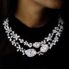 a magnificent diamond necklace by newly launched jewellery brand Boehmer et Bassenge. Inspired by the legendary 18th century French workshop, Boehmer et Bassenge have designed magnificent jewels entirely set with D colour, Internally Flawless or Flawless diamonds. The larger diamond in this necklace weighs 31.38 carats.